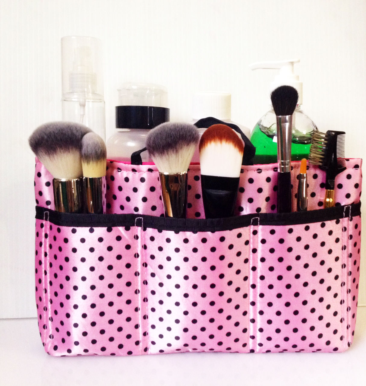 MAKEUP CASE BAG HAIR NAIL ONSET TOILETRY ORGANIZER HANDY TRAVEL GROOMING